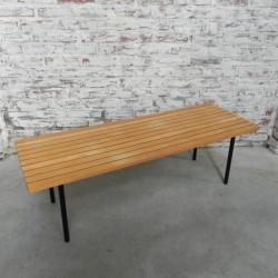 Vintage slatted bench