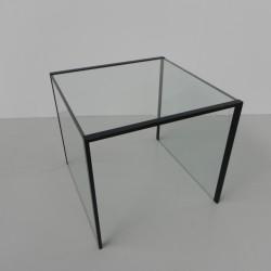 Minimalist glass side table...