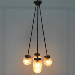 Art Deco hanglamp met 5...