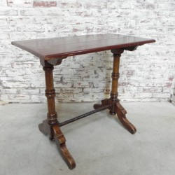 Oak bistro table from the...