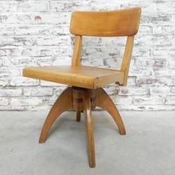 Wooden kids chair, swivel...