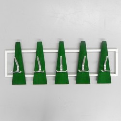 Vintage wall coat rack with...
