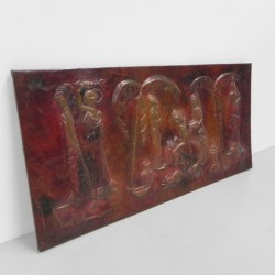 Red copper wall relief by...