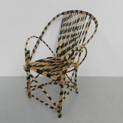 African chair painted in...