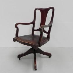 Mahogany Swivel Chair,...