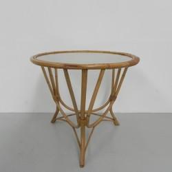 Rattan, bamboo coffee table...