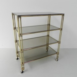 Brass etagere with four...