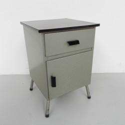 Steel vintage bedside table