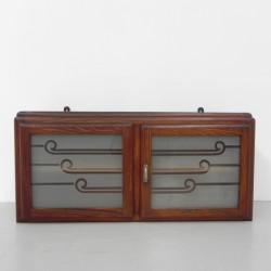 Art Deco wandkastje met 2...