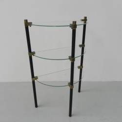 Etagere with 3 glass plates