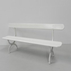 Garden bench with cast iron...