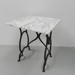 Garden table with cast iron...