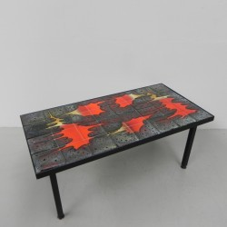 Vintage tile table with 32...