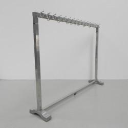 Standing aluminum coat rack...