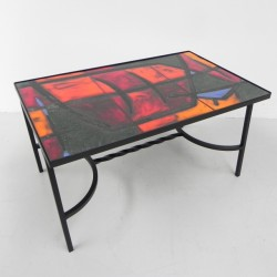 Tile table with 3 tiles,...