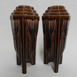 Set of 2 Art Deco vases
